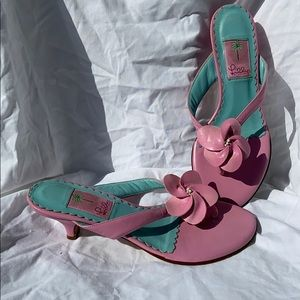 Lilly Pulitzer pink leather sandal  #Size 7 1/2